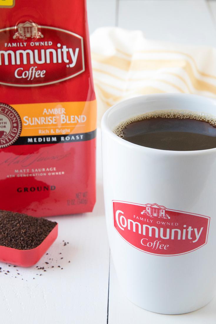 12 Oz Ground Amber Sunrise Blend Coffee Blended Coffee Coffee Mugs With Logo Community Coffee