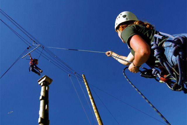 High Rope Adventure Ziplining Adventure Thrill Ride