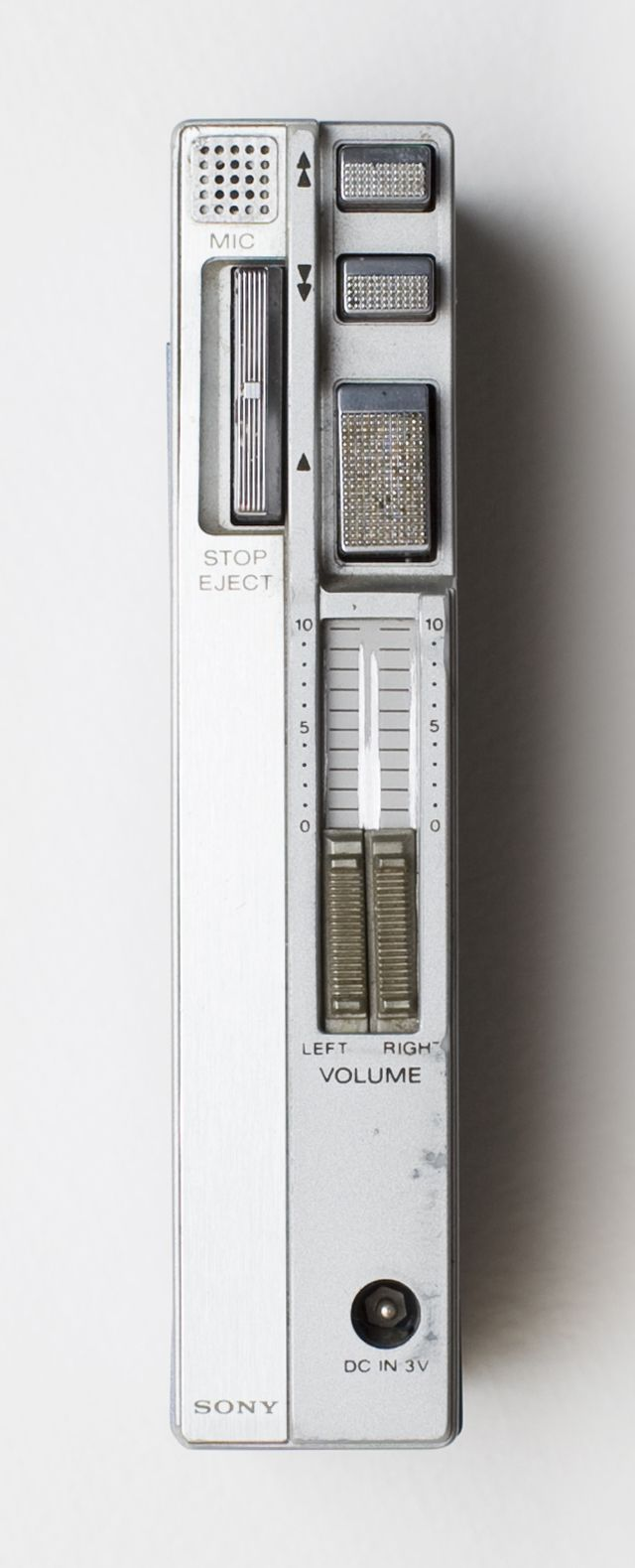 """Sony TPS-L2 (side view) before the name """"Walkman"""" came to pass"""