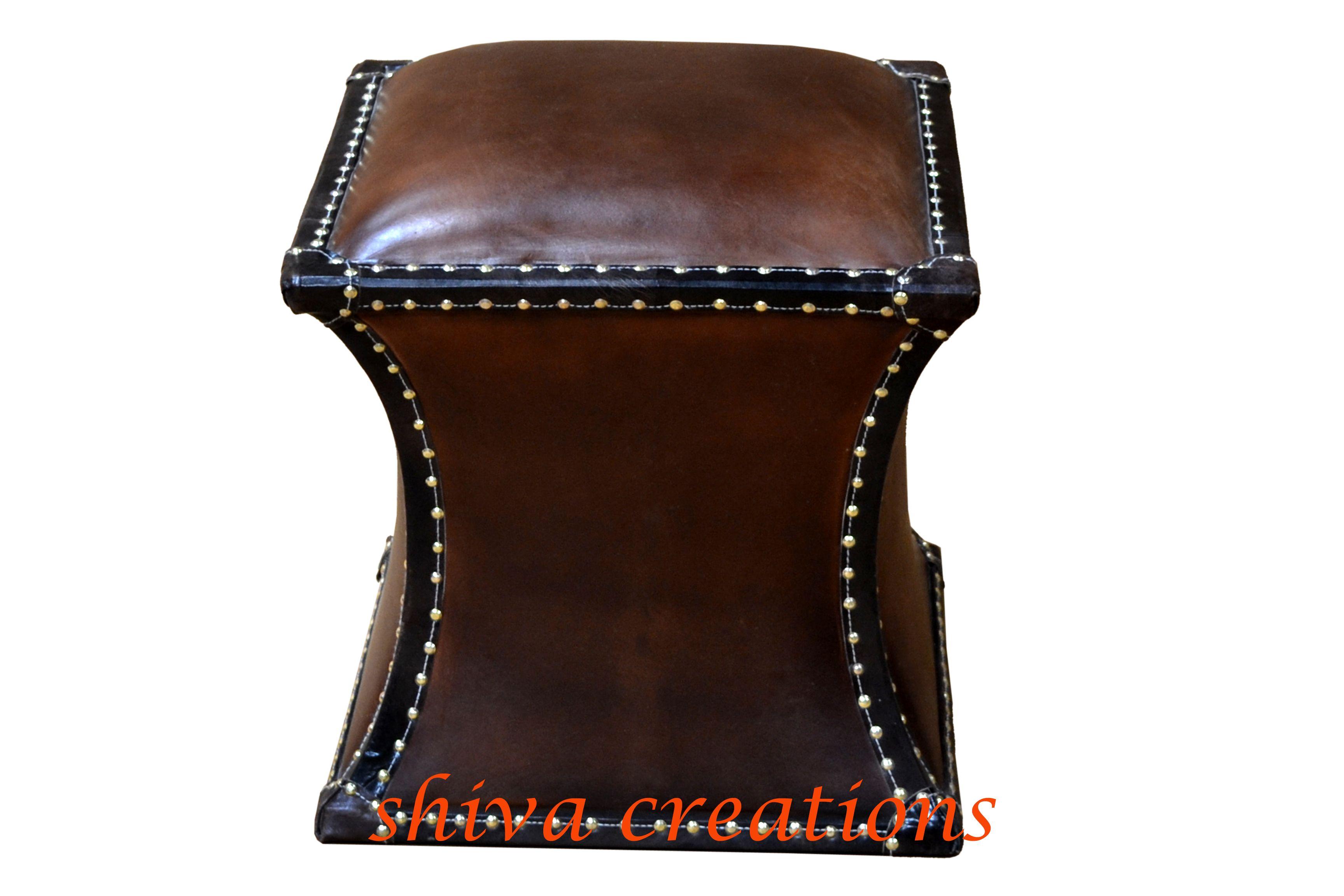 Leather ottomon Jodhpur.