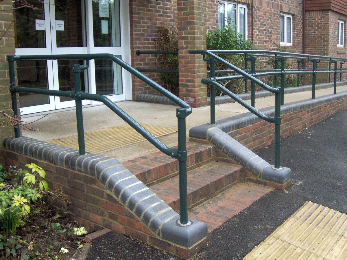 black pipe ada ramp handrail plan google search - Ada Ramp