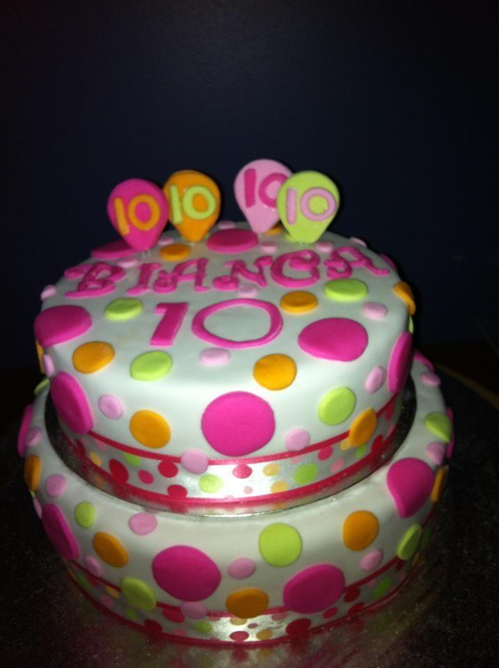 Spotty 10 Th Birthday Cake Cakes 10 Birthday Cake