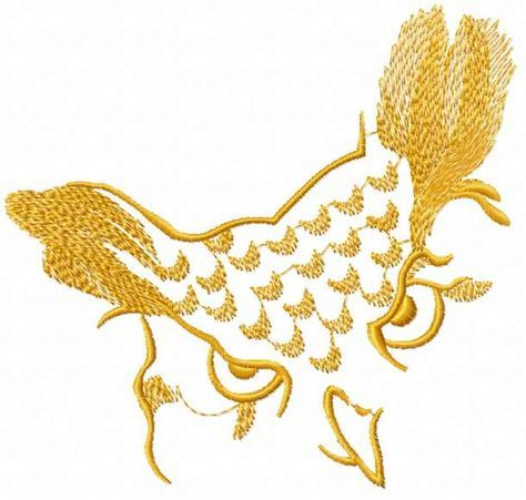 Gold Owl Free Machine Embroidery Design Goldowl Freedesign Bird
