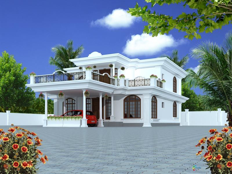 Nadiva sulton india house design kerala flat roofs Indian house plans designs picture gallery