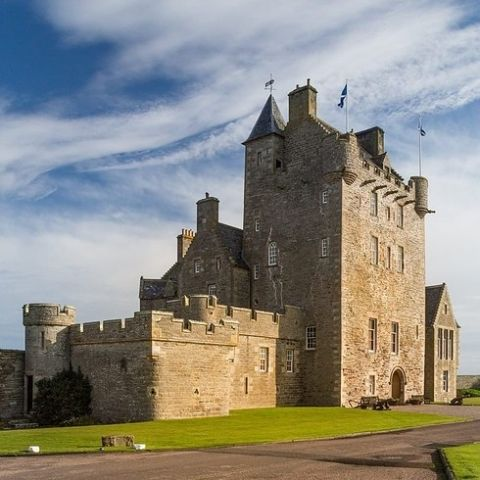 Ackergill Tower a 15th century Castle in the Highlands of Scotland.