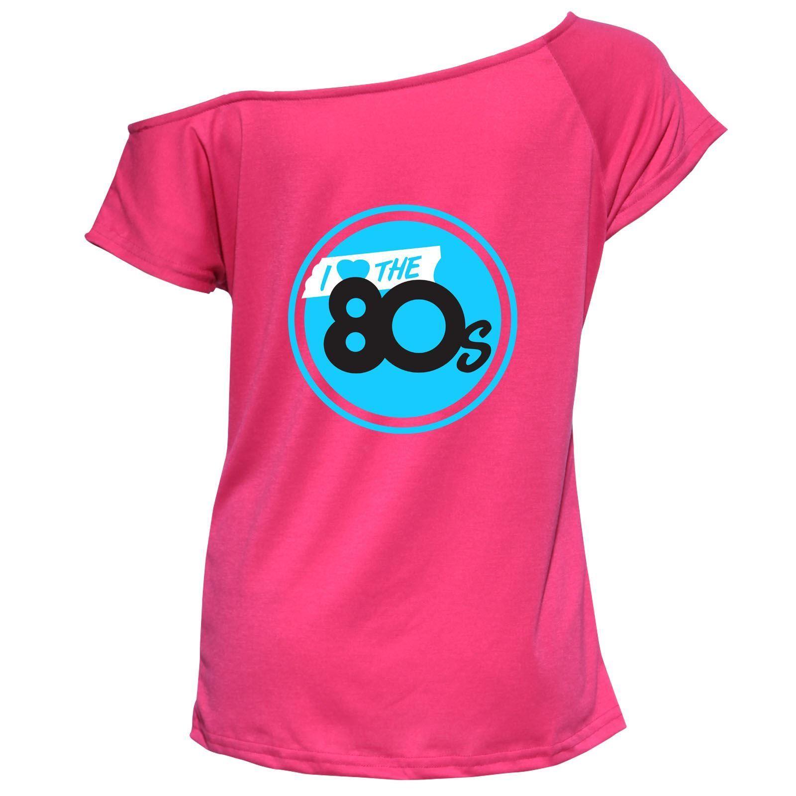 La S I Love The 80s Top Womens Pop Music Star Retro T