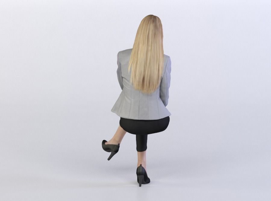 Janna 0507 Woman Sitting Leg Over The Knee 3d Model Max Obj C4d Mat 3 People Png Render People People Sitting Png