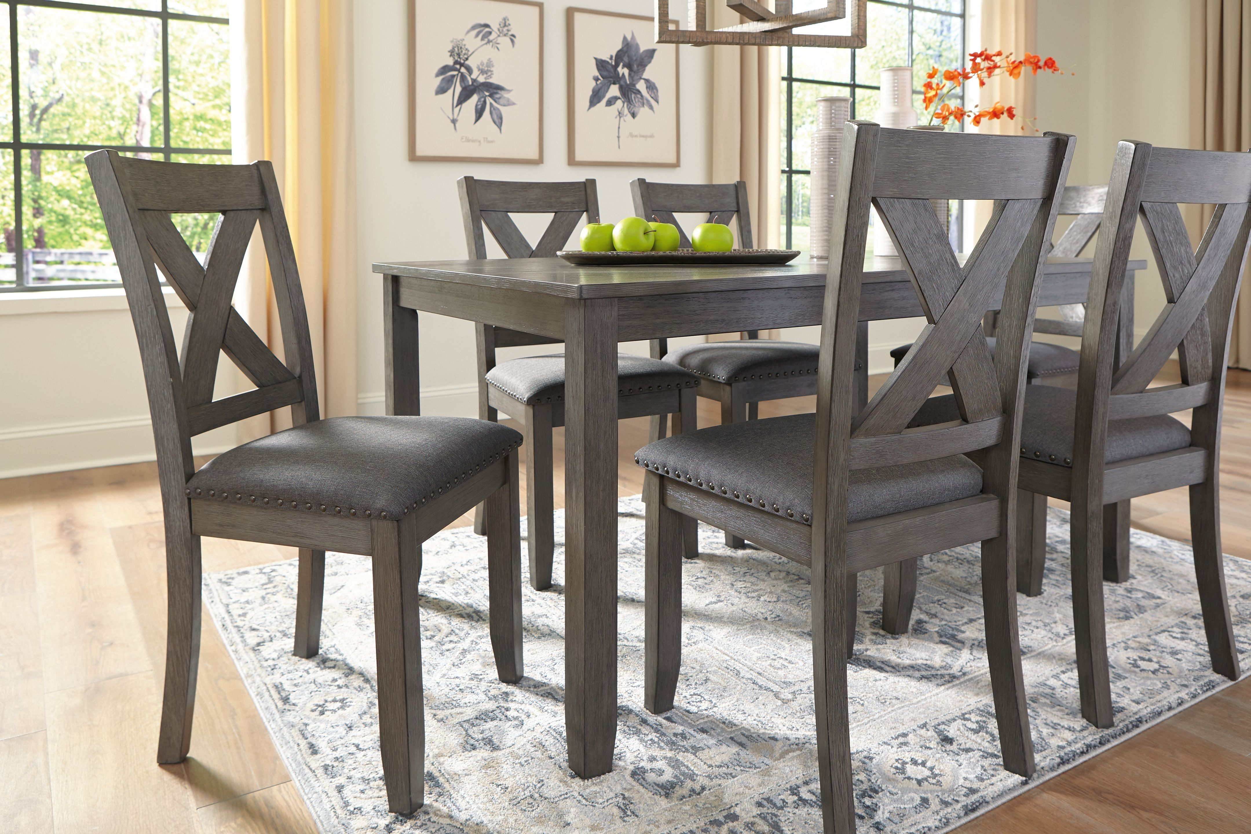 Caitbrook Dining Table And Chairs Set Of 7 Ashley Furniture Homestore In 2021 Table And Chair Sets Dining Room Table Dining Table Chairs