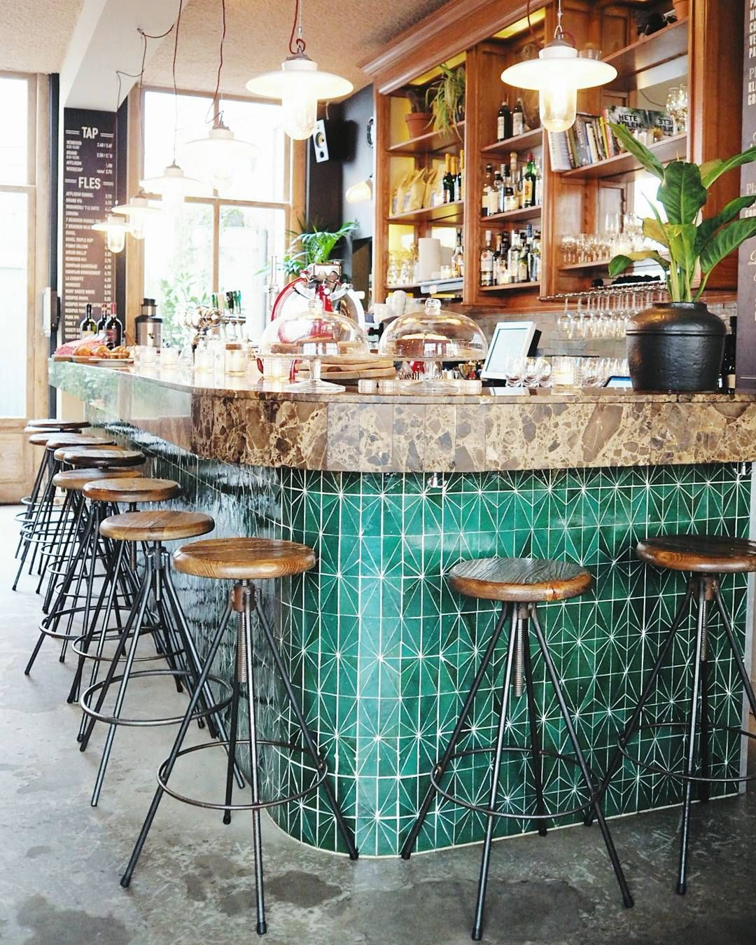 My cool workspace this morning. Great tiles don\'t you think? Bar ...