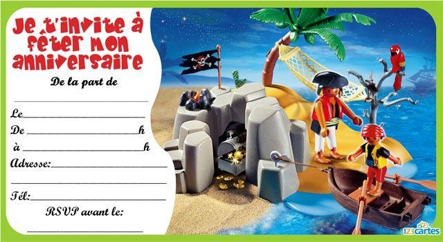 Invitation anniversaire playmobil pirates 4 playmobil anniv invitation anniversaire carte - Carte anniversaire lego gratuite imprimer ...