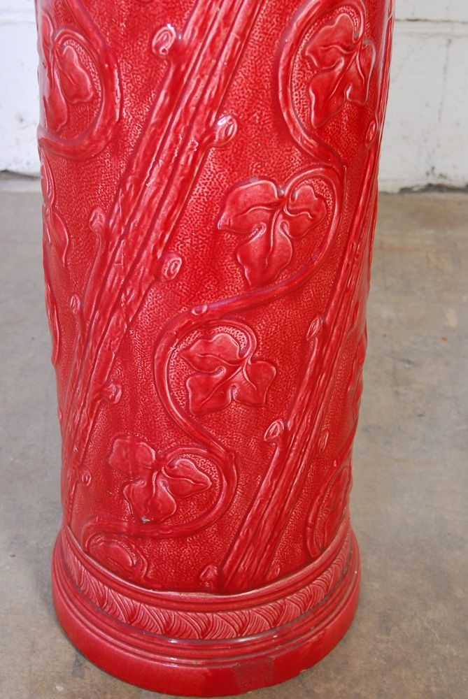 Burmantofts Faiena Red Umbrella Stand