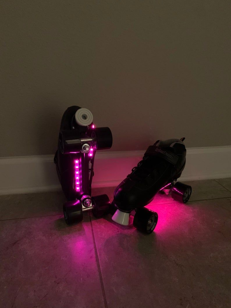 Bluetooth controlled led lights for roller skates with