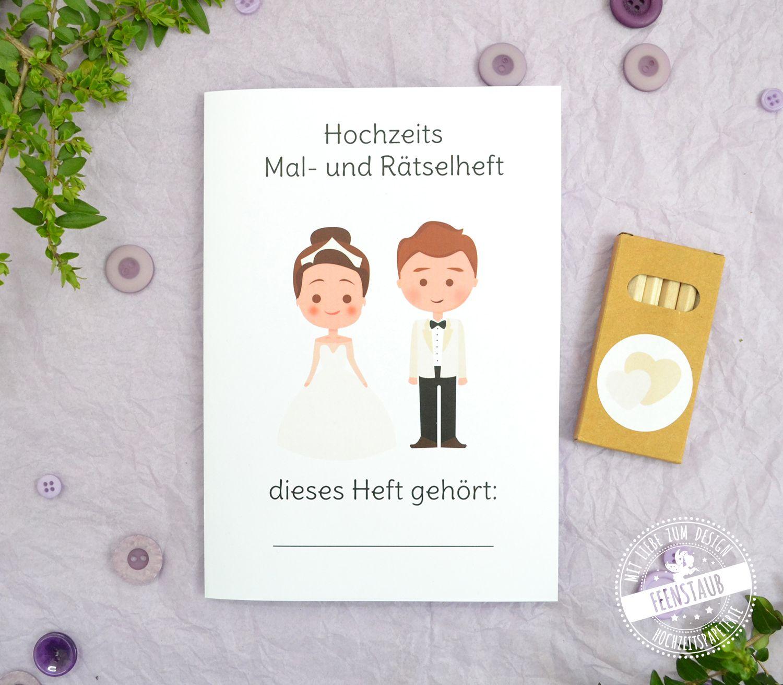 Malheft Und Ratselheft Fur Kinder Auf Hochzeiten Feenstaub At Shop Puzzle Hochzeit Wenn Du Mal Buch Kinder Auf Der Hochzeit