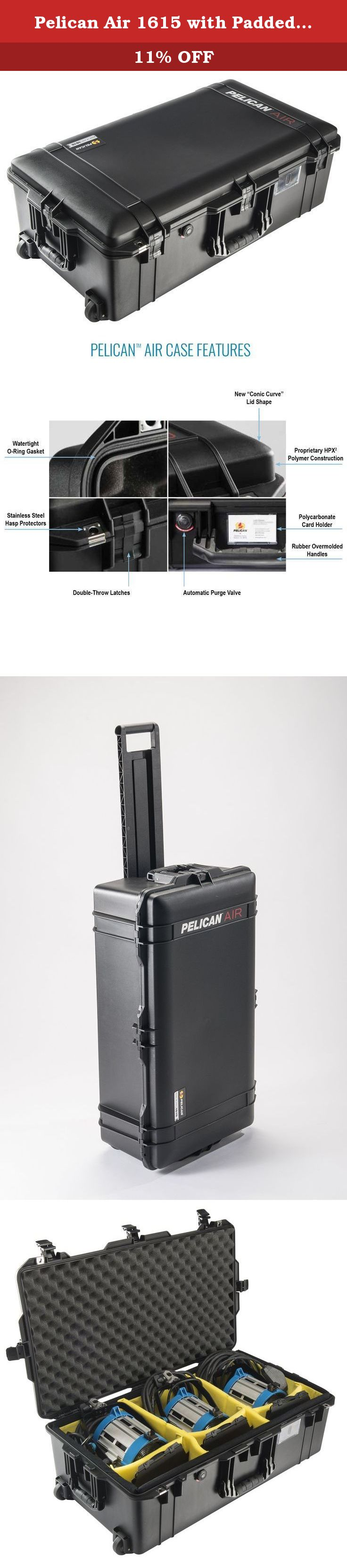 Pelican Air 1615 with Padded Dividers (Black). The Pelican