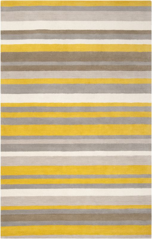 Citrine Striped Madison Square Rug Mustard Bedrooms And