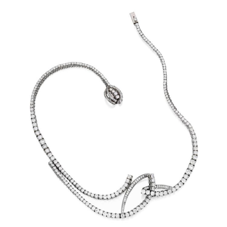 Buy online, view images and see past prices for PLATINUM AND DIAMOND NECKLACE. Invaluable is the world's largest marketplace for art, antiques, and collectibles.