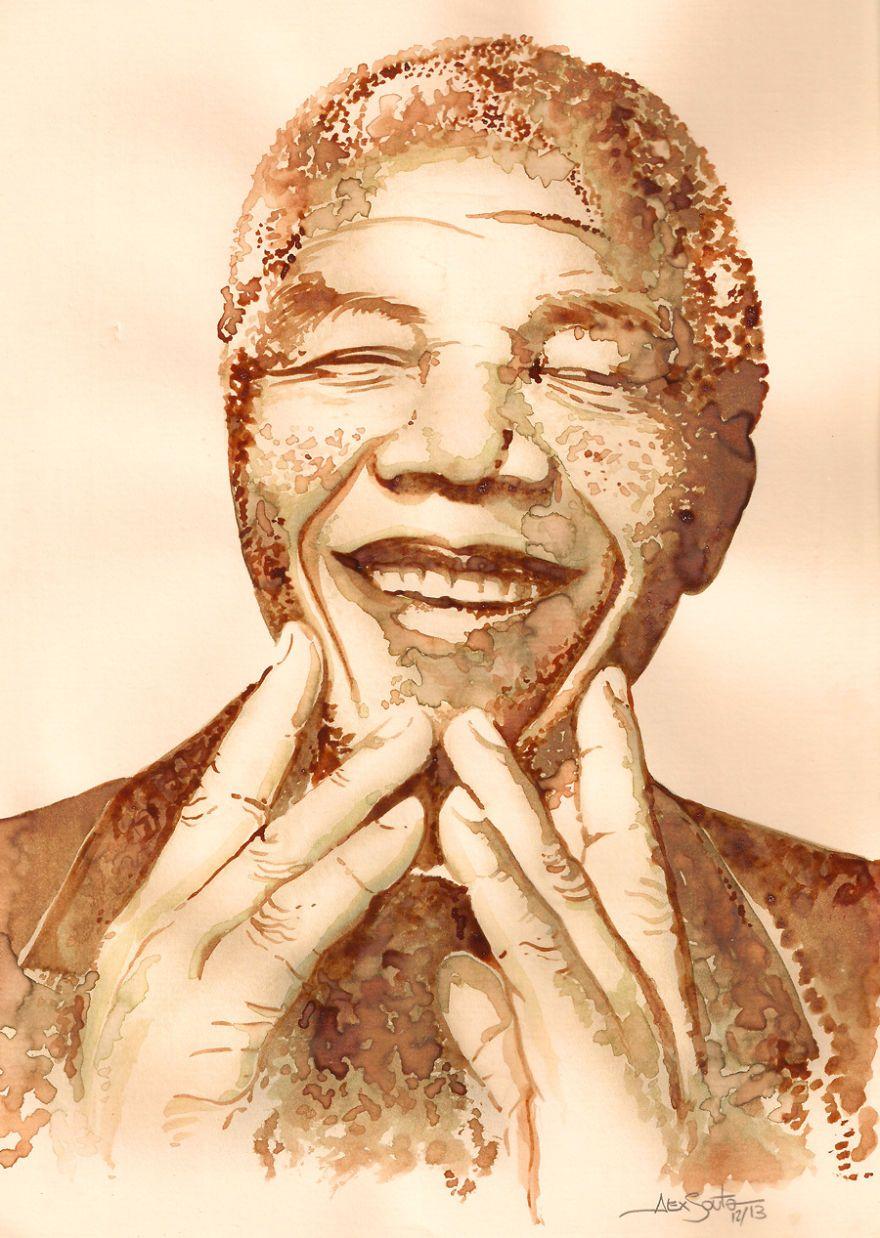 Mandela - Coffee painting