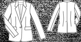 Жакет приталений з округленими знизу пілочками | BurdaStyle.ua: Мода, Дизайн, Рукоділля, Викрійки