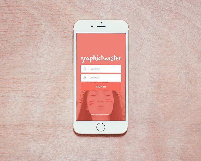 Download Vertical Photorealistic Iphone 6 Mockup Iphone Iphone 6 Template Freebie