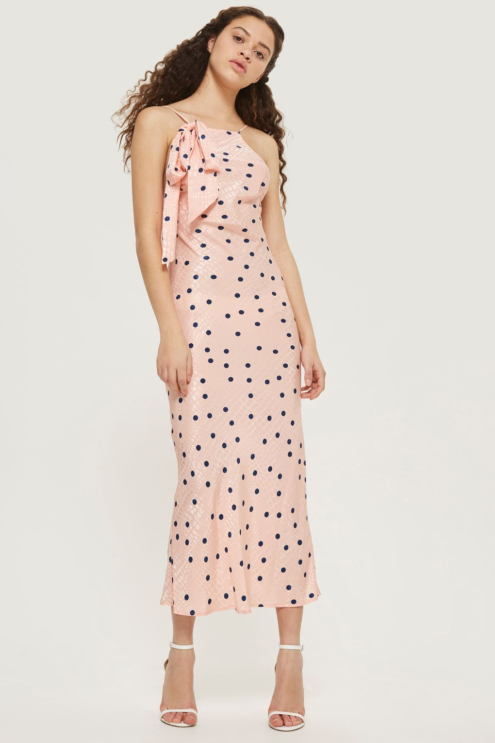 42a37d3c2e3a7 Spot Jacquard Slip Dress | topshop | Dresses, Fashion, Wedding guest ...