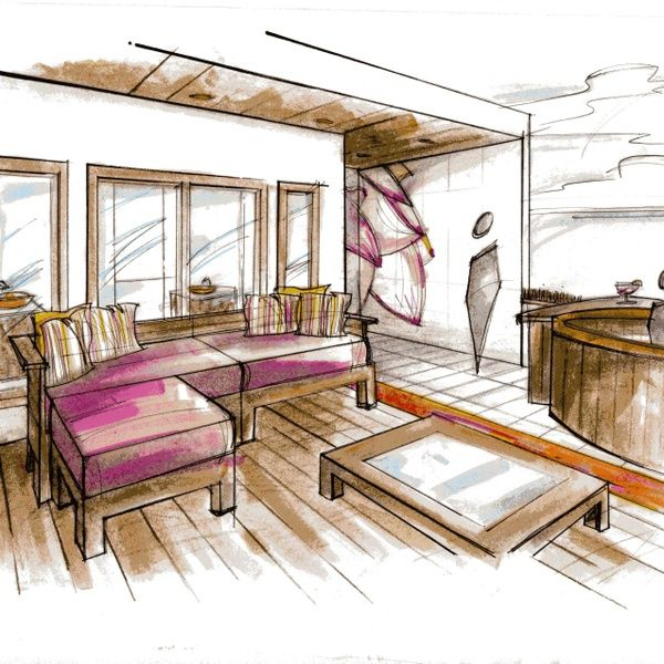 Hand renderings google search sketches and renderings - Hand drafting for interior design ...