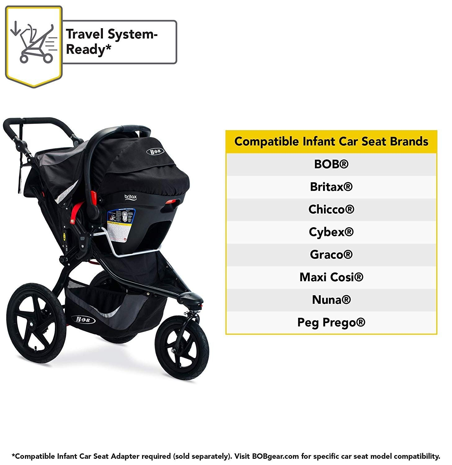 BOB Gear Revolution Flex 3.0 Jogging Stroller With the BOB