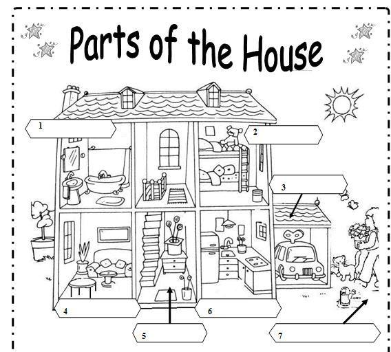 Partes de la casa en ingles para colorear buscar con for Aplicacion para buscar habitacion