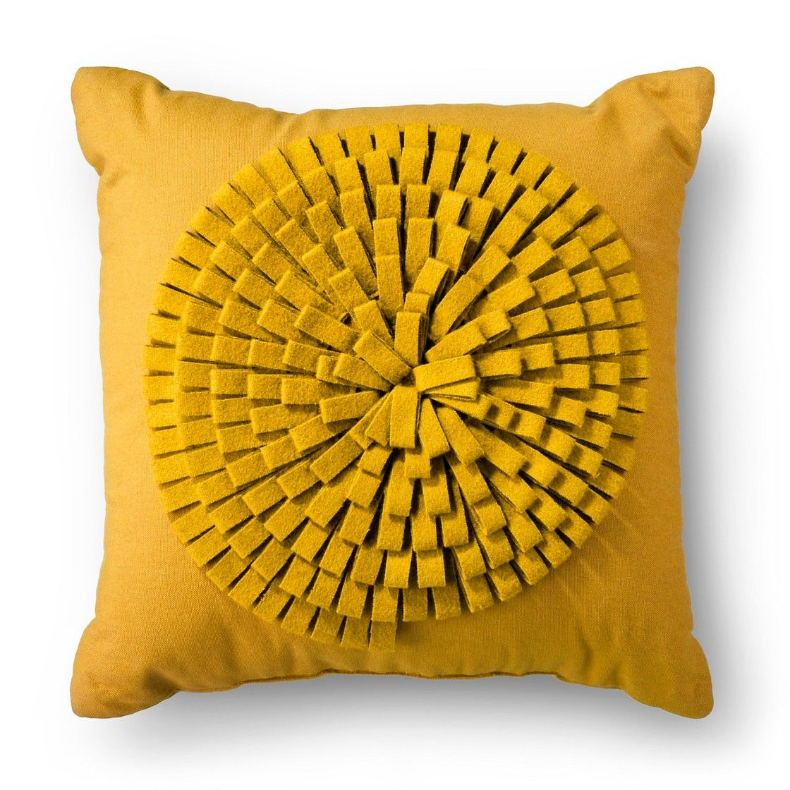 Threshold™ Decorative Floral Design Pillow Yellow