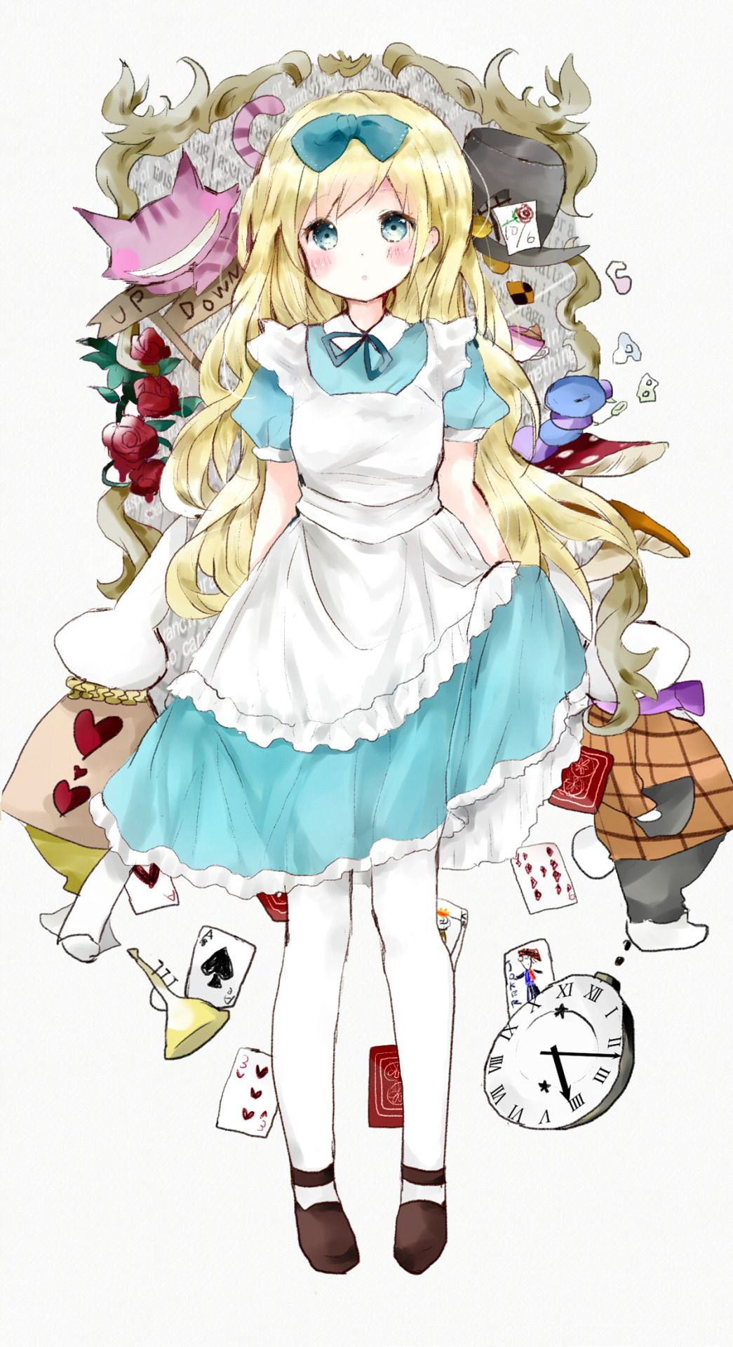 Arte Manga Here We 39re All Mad Here Photo Anime Alice In Wonderland