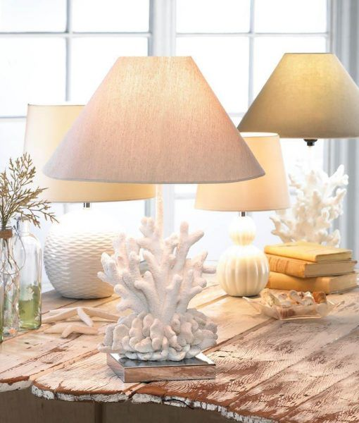 Core Of Decor White Coral Table Lamp   Beachfront Decor