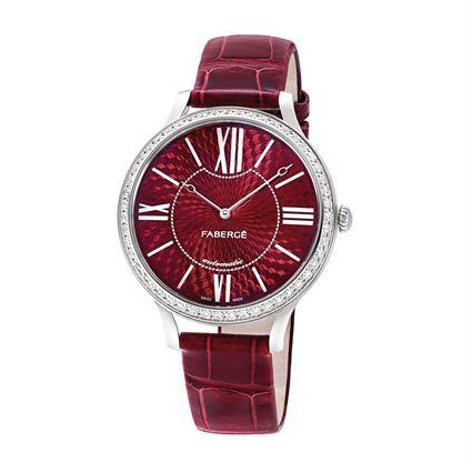 Women's Watch - Fabergé Flirt 39mm 18kt White Gold Watch – Enamel Red Dial