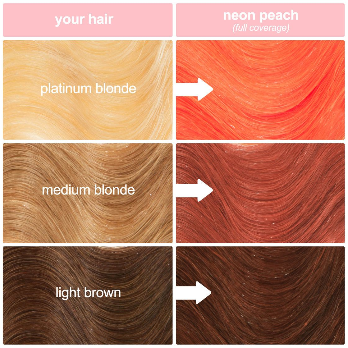 Neon Peach Hair Color Clean Vibrant Peach Peach Hair Colors