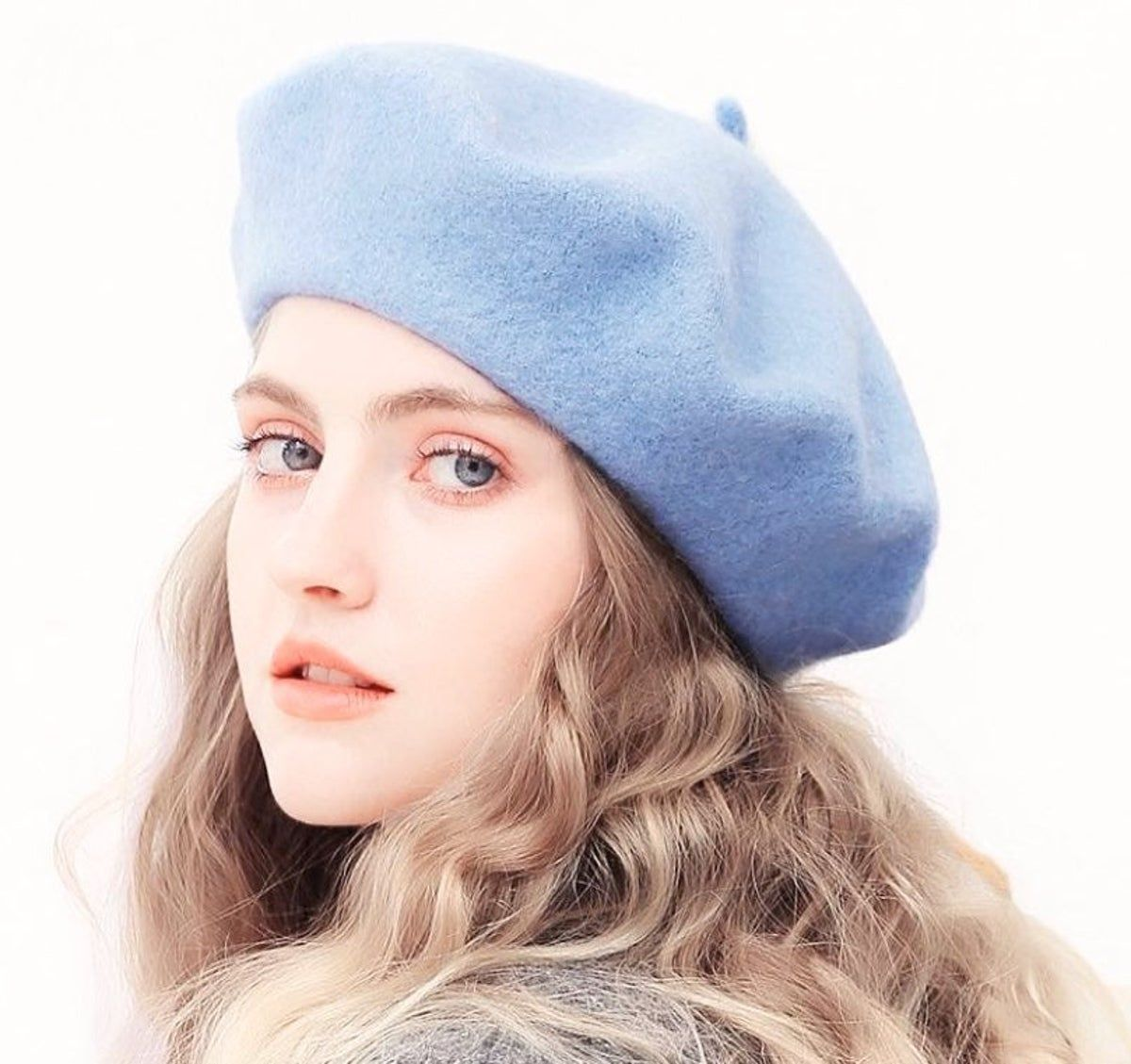 Nwt Wool French Beret Baby Blue In 2021 French Hat French Beret Hat Hats For Women