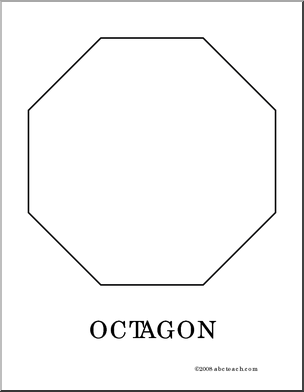 Coloring Page Octagon Color This Picture Of An Octagon Use It To Make A Stop Sign Use It To Learn About Sha Shapes Preschool Octagon Creative Curriculum