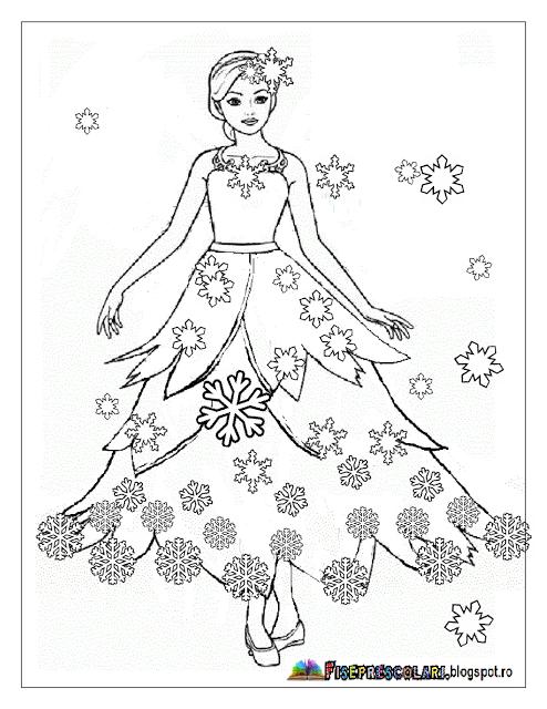 Färbung mit ZANA WINTER - Winterfee Bilder   Arbeitsblätter ...