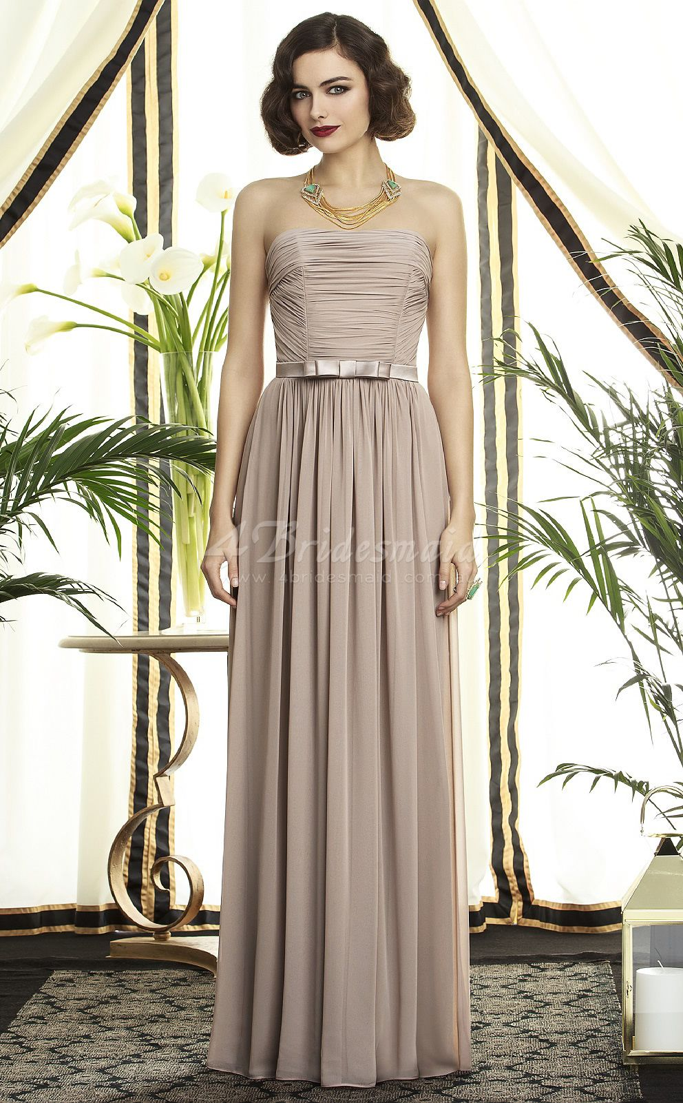 Gray chiffon a line strapless floor length bridesmaid dresses gray chiffon a line strapless floor length bridesmaid dressesbd742 ombrellifo Choice Image