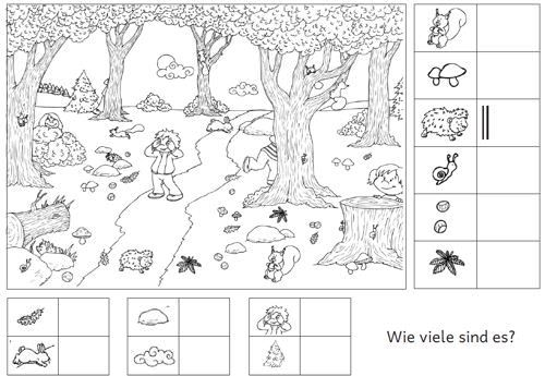 Bildergebnis für herbst im kindergarten arbeitsblätter | figur grund ...