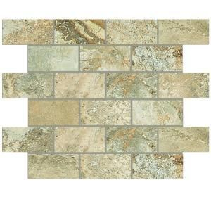 Daltile Folkstone Slate Sandy Beach 12 In X 8mm Mosaic Tile Fk9824bwhd1p2 At The Home Depot