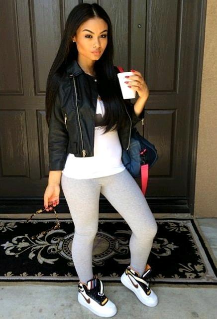 Calzas de moda ¡Opciones de outfits con leggings!