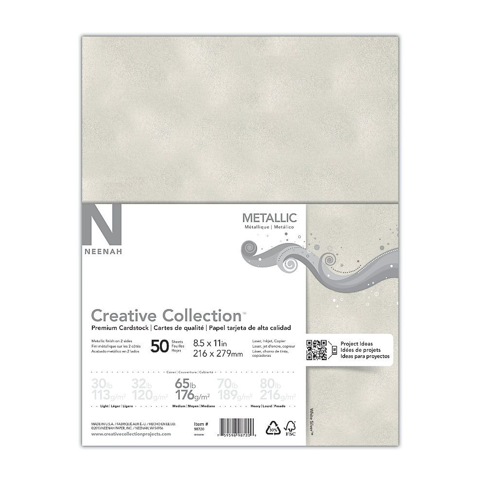 Creative collection metallic specialty card stock letter