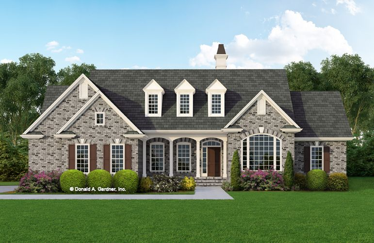 Comfortable Family Living Was The Motive For The Design Of This Home Which Features Well Planned Living Country Style House Plans Brick House Plans Devon House
