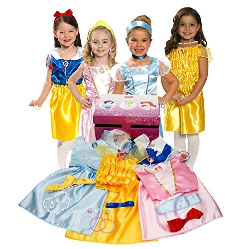 Disney Princess Dress Up Trunk 6th Birthday Gift Ideas For Girls This Is Just One Of 70 Gi Disney Princess Dress Up Disney Princess Dresses Disney Dress Up