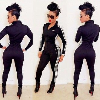 c9a2d14ec1868 jumpsuit adidas tracksuit adidas black bodysuit adidas suit red bottoms  jacket adidas jackets sweatsuit one piece louboutin mohawk cool hairstyle  hairstyles ...