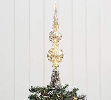 Lit Mercury Finial Tree Topper #potterybarn - Lit Mercury Finial Tree Topper Holidays - Christmas Pinterest