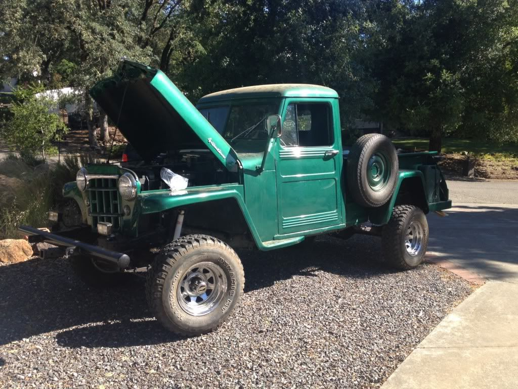 1953 willys truck 4x4 buick 225 v6 engine conversion from 1969 cj 5