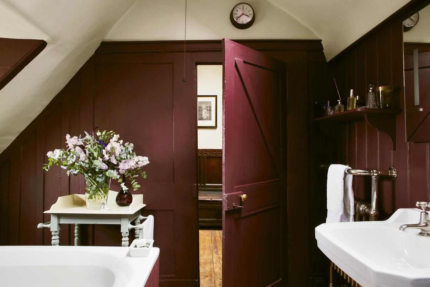 Interiors How To Pick The Perfect Colours For Your Home Bathroom Inspiration Burgundy Bathroom Bathroom Paint Colors