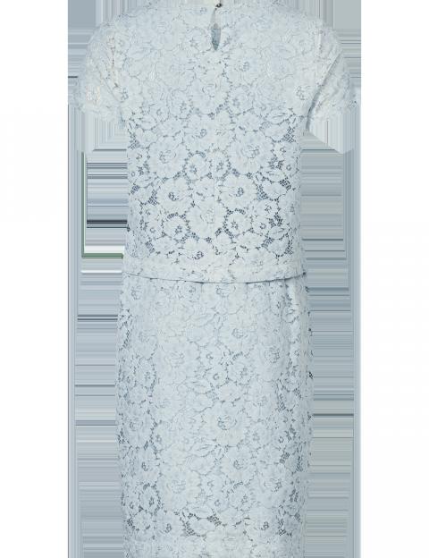 e40d83ebea7f32 Purdey jurk kant lichtblauw