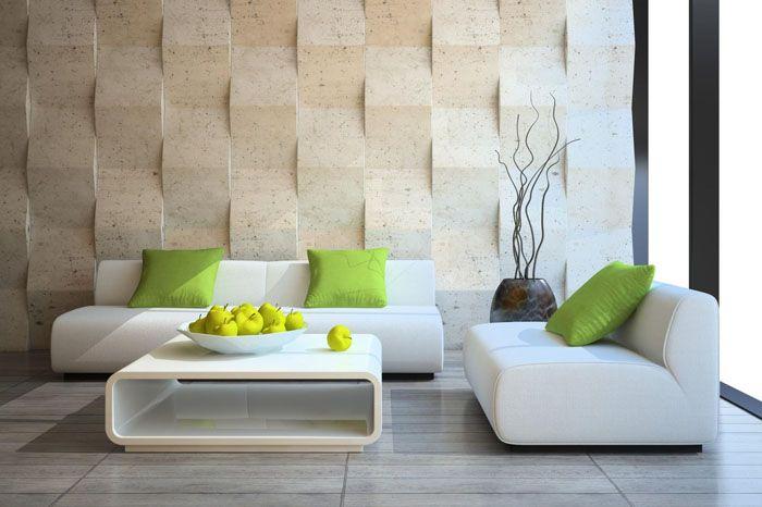 Holzkunst Kreative Wandgestaltung Wanddeko Ideen Holzverkleidung Wellen