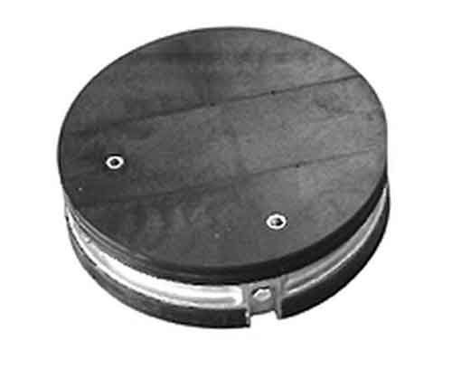 """ARMADILLO Drillable End Plate Kits with Ground and Air Valve, 9"""" Dia 2 Section"""