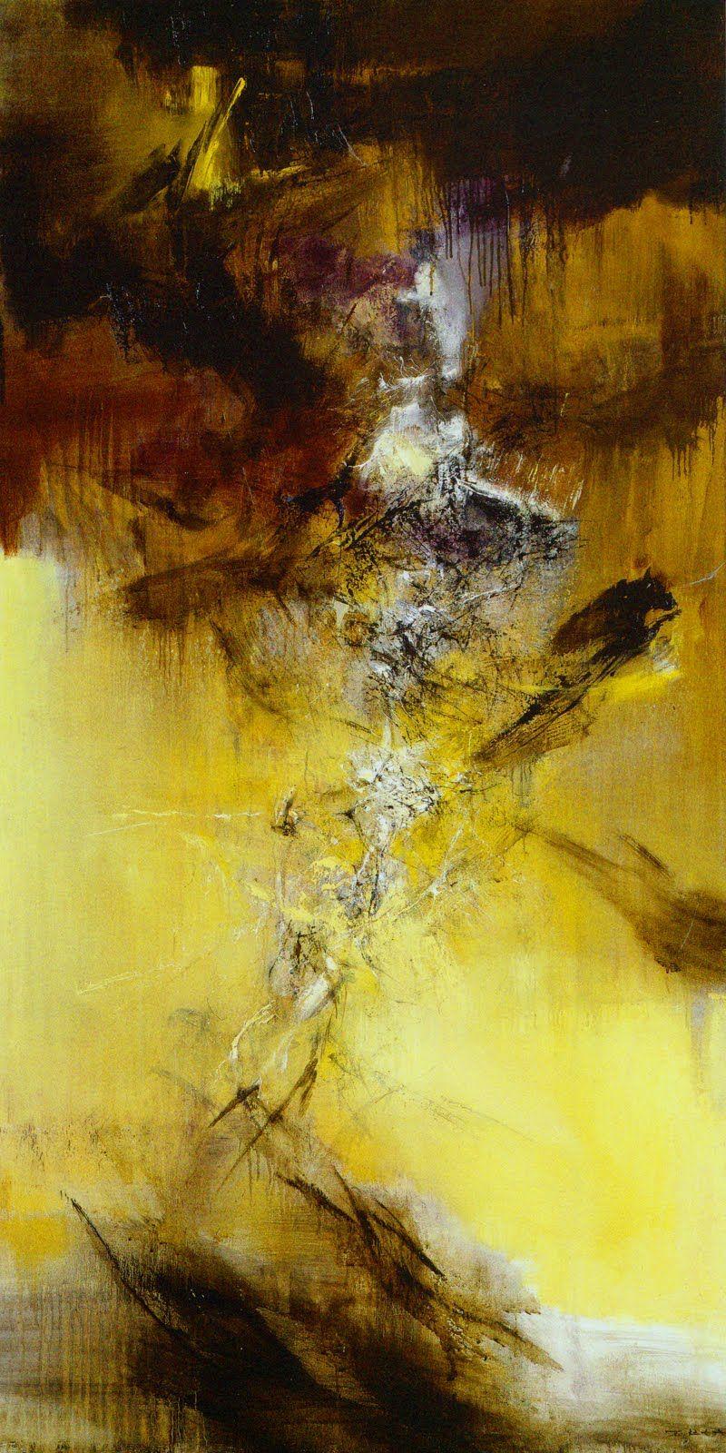 Zao Wou Ki Huile Sur Toile 1969 Peinture Abstraite Peinture